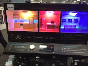 Philips Hue Display at the Best Buy Connected Home Department