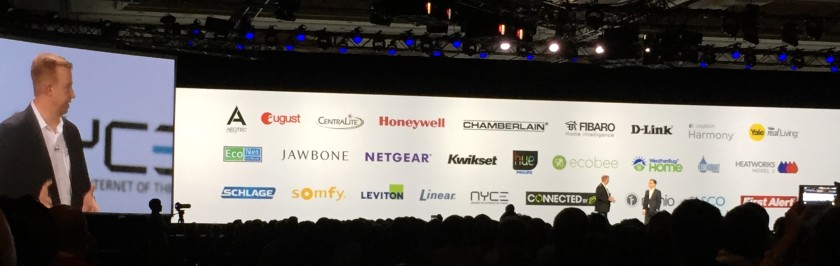 SmartThings ecosystem partner companies announced at CES 2015 Samsung keynote