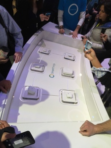 SmartThings hub, sensors and devices on display at CES 2015
