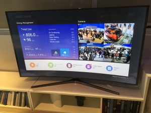 Prototype of TV based smart home dashboard for new SmartThings hub